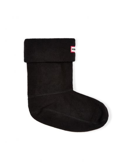 Hunter Mikro-Fleece Stiefelsocken in schwarz