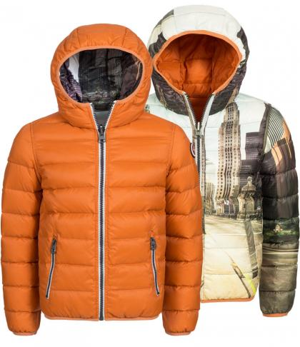 Hyros Wendejacke Skater mit Daunen in orange