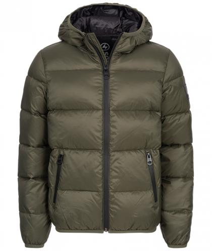 Hyros quilted jacket with down - olive