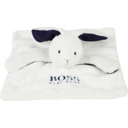Hugo Boss Baby Hasen Kuscheltuch - weiß