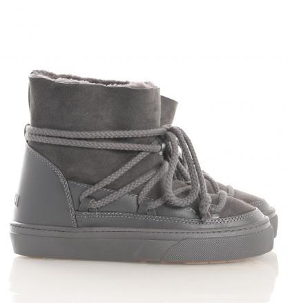 Sneakers Lammfell gefüttert in grau (Handarbeit)