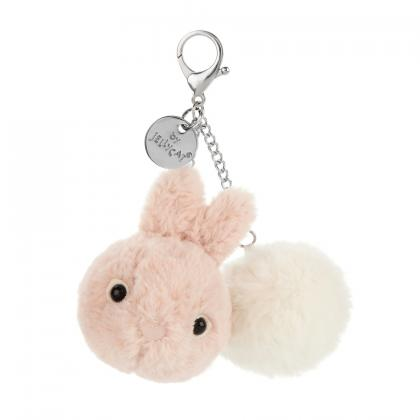 Jellycat Kutie Pops Bunny Bag Charm - rose