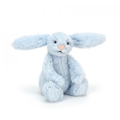 Jellycat Bashful Blue Bunny (XS und M) - blau