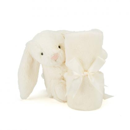 Jellycat Bashful Cream Bunny Soother - weiss