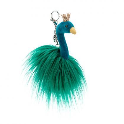 Jellycat Fancy Peacock Anhänger - blau