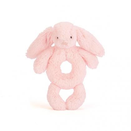 Jellycat Bashful Pink Bunny Rassel - rosa