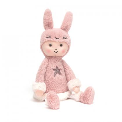 Jellycat Perky Bunny Hop - rosa