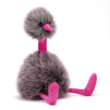 Jellycat Grey Pompom in grau-pink
