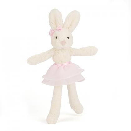 Jellycat Tutu Lulu Cream and Pink Bunny in weiss