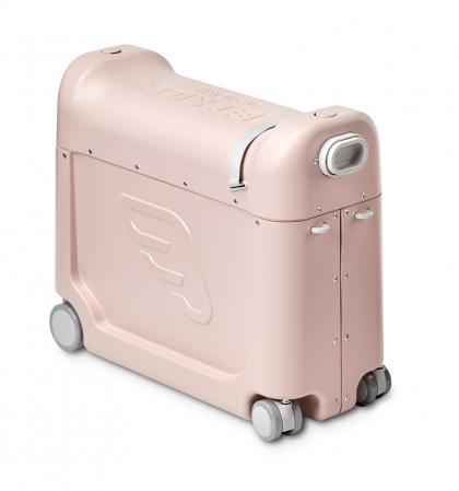 BedBox Ride-On suitcase with integrated airplane bed - Pink Lemonade
