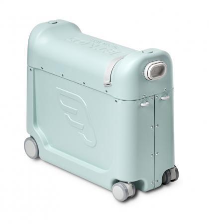BedBox Ride-On suitcase with integrated airplane bed - Green Aurora
