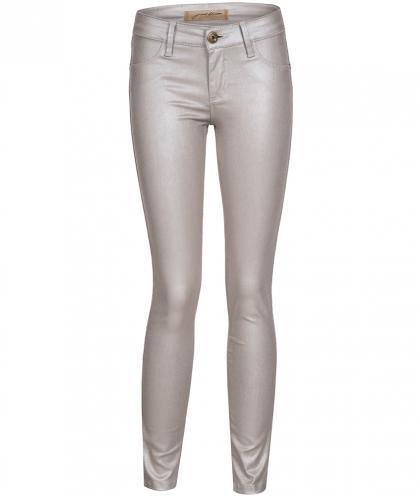Just Blue Leder-Optik Jegging Frozen Edit in silber
