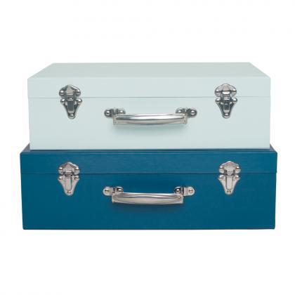 Jabadabado storage suitcase set, 2 parts - blue