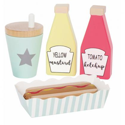 Jabadabado Holz Hot Dog Set - bunt