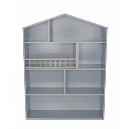 Jabadabado Holz Bücherregal Haus XXL - grau