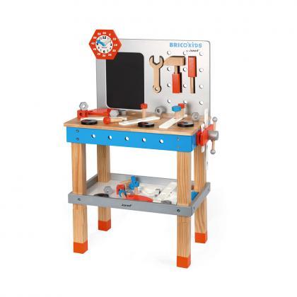 Janod Brico Kids Holz Werkbank Groß - Bunt