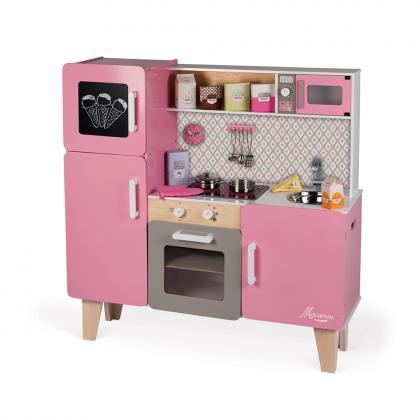 Janod Maxi Holzküche Macaron mit Geräusch und Lichteffekten - rosa