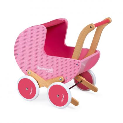 Janod Holz Puppenwagen Mademoiselle - rosa