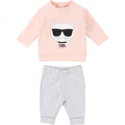 Karl Lagerfeld Baby-Set in rosa-grau