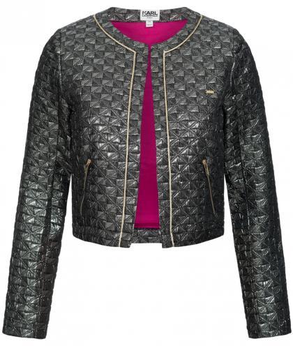Jacke in metallic