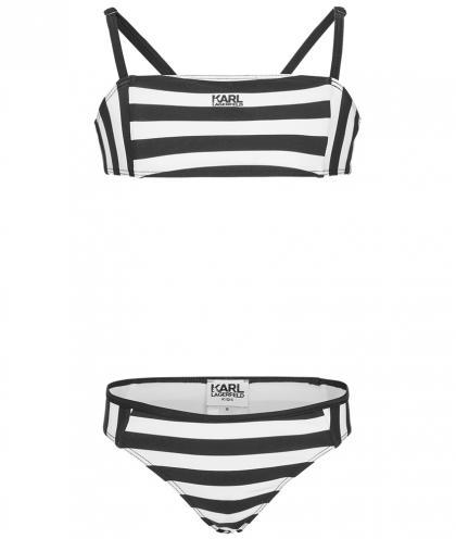 Karl Lagerfeld Bikini schwarz-weiss gestreift