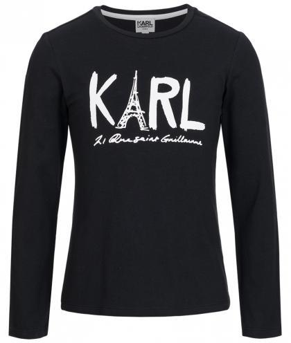 Karl Lagerfeld longsleeve with print in black