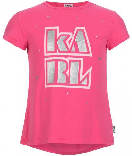 Shirt mit Glitzer Druck in pink