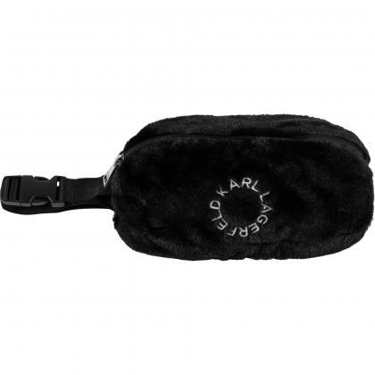 Karl Lagerfeld fur buggy bag - black