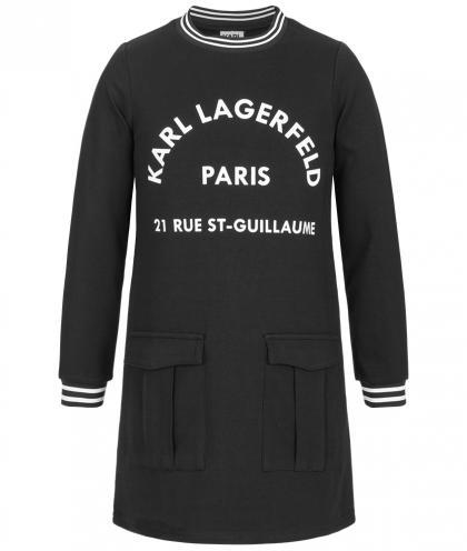 Karl Lagerfeld Sweatkleid mit Print in schwarz