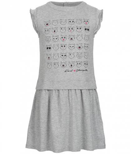 Karl Lagerfeld Kleid mit Aufdruck  in grau