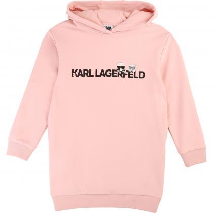 Karl Lagerfeld Kapuzenkleid - rosa
