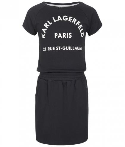 Karl Lagerfeld Kleid mit Print in schwarz