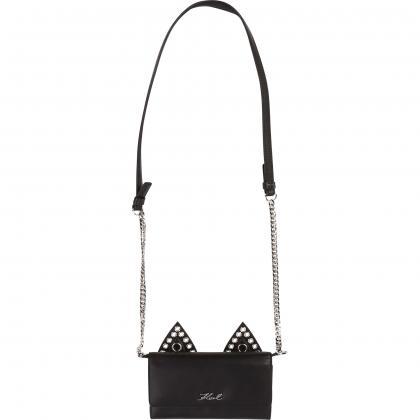 Karl Lagerfeld leather bag - black