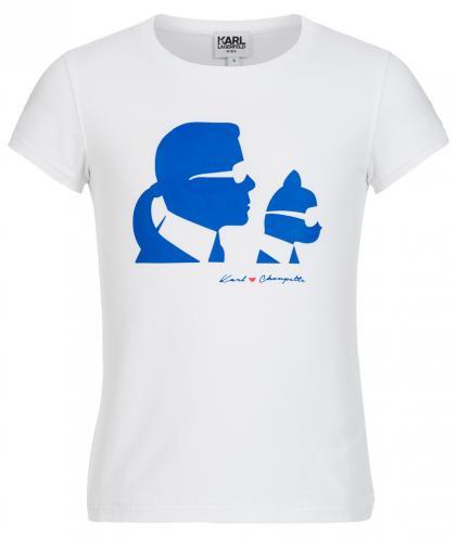 Karl Lagerfeld Shirt mit Aufdruck in weiss