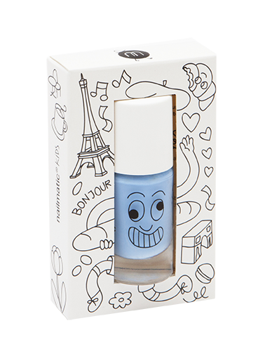 Nailmatic washable nail polish Gaston in light blue