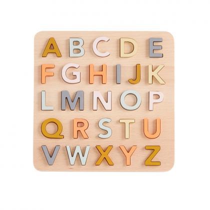 Kids Concept Holz ABC Puzzle - beige