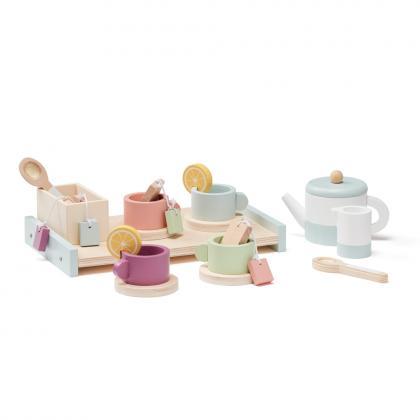 Kids Concept Holz Tee Set Bistro, 21 teilig - bunt