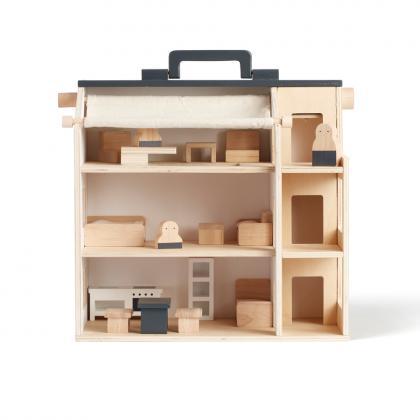 Kids Concept Puppenhaus tragbar Aiden - Natur