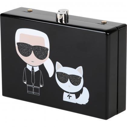 Karl Lagerfeld Umhängetasche mit Print -  schwarz