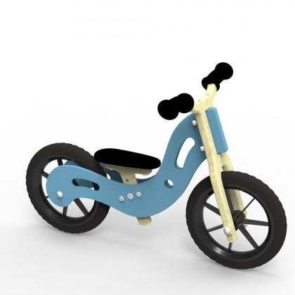 Woodywheelers Laufrad Boogey - blau