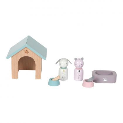 Little Dutch Holz Puppenhaus Spielset Haustiere - multi