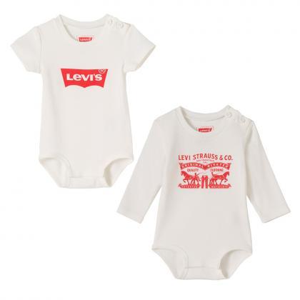Levis Baby Bodies im Doppelpack in weiss