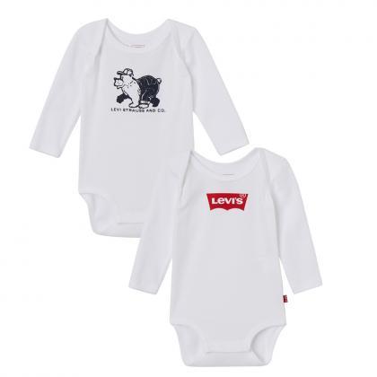 Levi´ Baby Bodies im Doppelpack in weiss