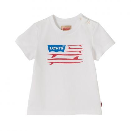Levis Shirt mit Surfbretter Print in weiss