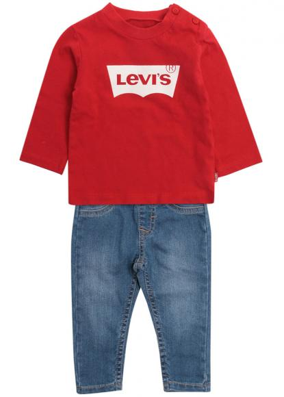 Levis Baby-Set Jeanshose + Shirt in Geschenkbox