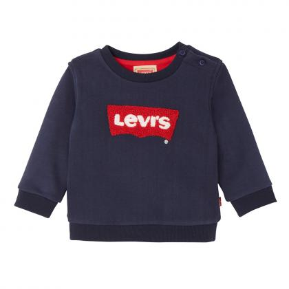 Levi's Baby Sweater Baty mit Flockdruck in navy