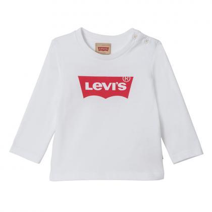 Levi's Baby Langarmshirt Bat mit Basic Logo in weiß