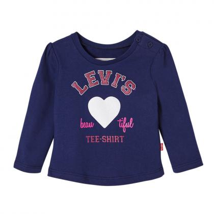 Levi's Baby longsleeve Beauty with glitter print in navy