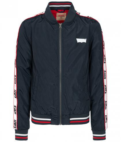 Levi's Retro Bomberjacke Teddy mit Track Stripes - navy