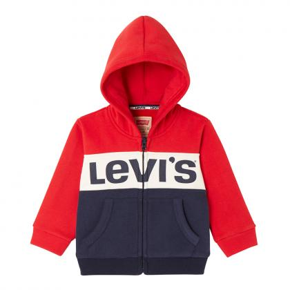Levi's Baby Sweatjacke Color mit Blockmuster in rot